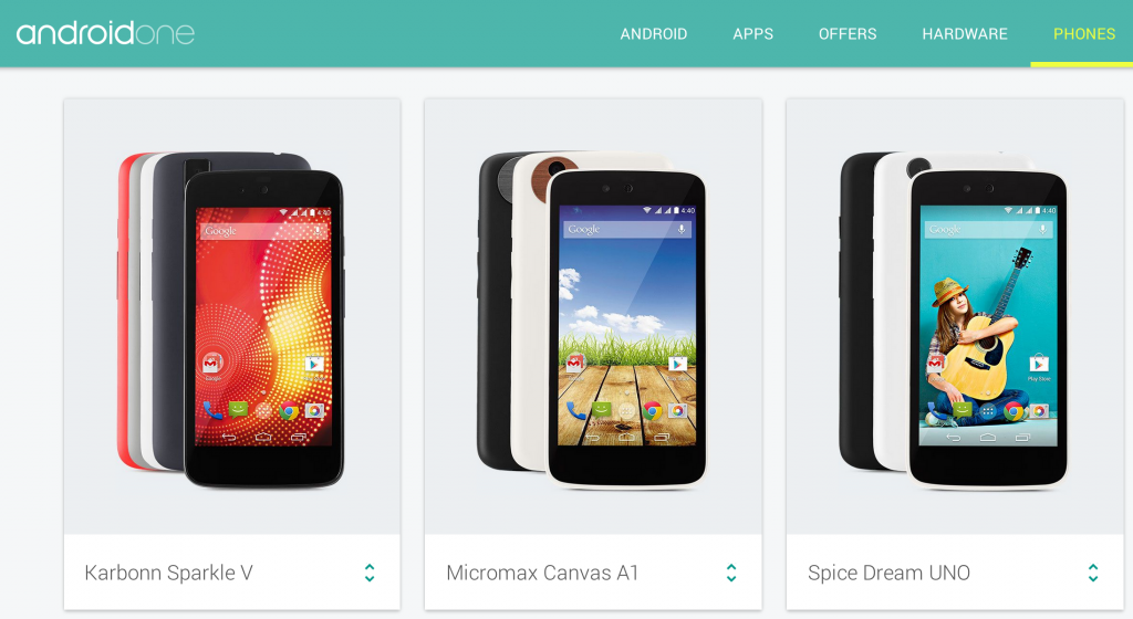 TELEFONOS ANDROID ONE