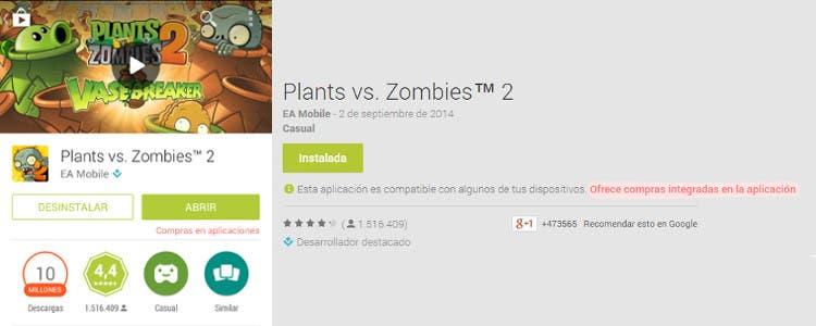 Play Store incluirá información sobre posibles pagos dentro de las apps