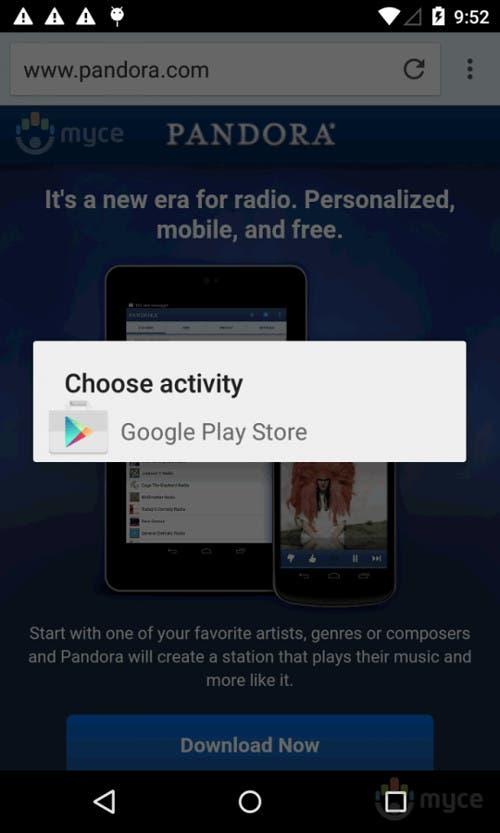 Captura de pantalla de Android Lollipop