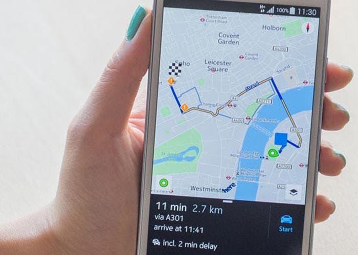 Imagen de Here maps Android
