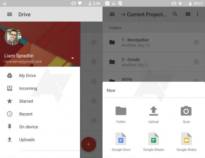 Google Drive se actualiza a Material Design