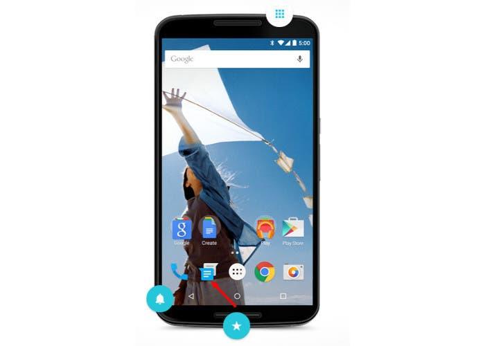 La aplicación de SMS pasa a llamarse Messenger en Android Lollipop