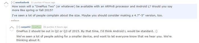 El OnePlus 2 se ha confirmado para mediados de 2015