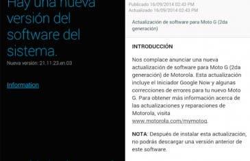 El Motorola Moto G 2014 recibe su primera actualización