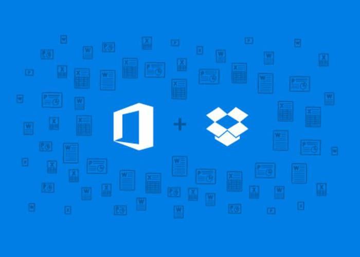 Dropbox y Microsoft