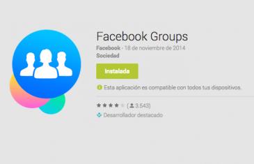 Facebook Groups, una aplicación para gestionar los grupos