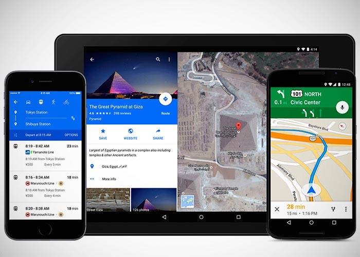 Nuevo Google Maps con Material Design