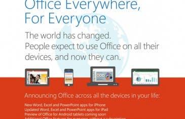 Microsoft Office gratis para Tablets y Smartphones