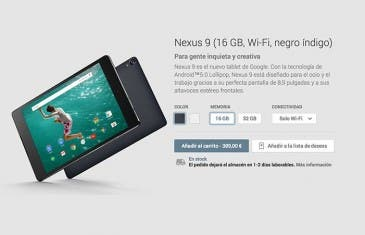 Google Nexus 9 ya está disponible en Google Play