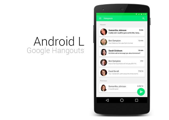 Hangouts en Android L