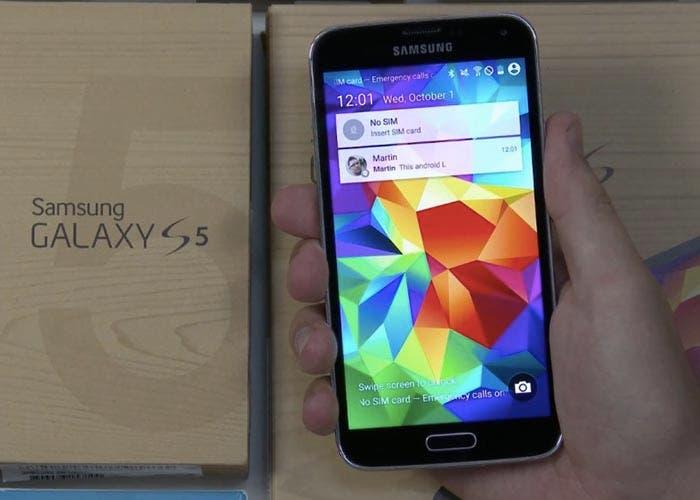 Imagen de Lollipop en un Samsung Galaxy S5