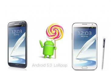 Android 5.0 Lollipop muy cerca del Samsung Galaxy Note 2