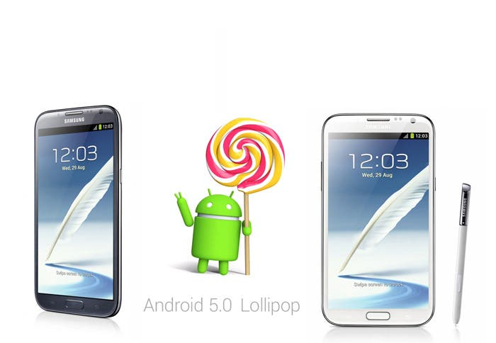 Lollipop y Samsung Galaxy Note 2