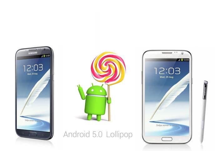 Lollipop y Samsung Galaxy Note 2