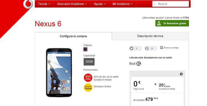 Nexus 6 vodafone