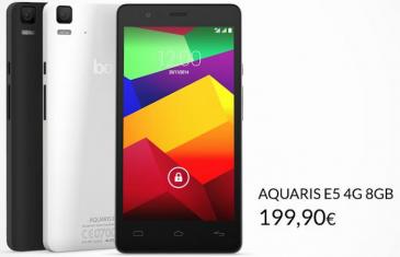 bq presenta un nuevo Aquaris E5 4G de 8 GB por 199 euros
