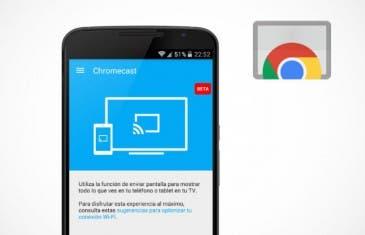 La App de Chromescast se actualiza con Material Design y añade funcionalidades