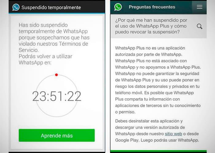 Bloqueo de WhatsApp