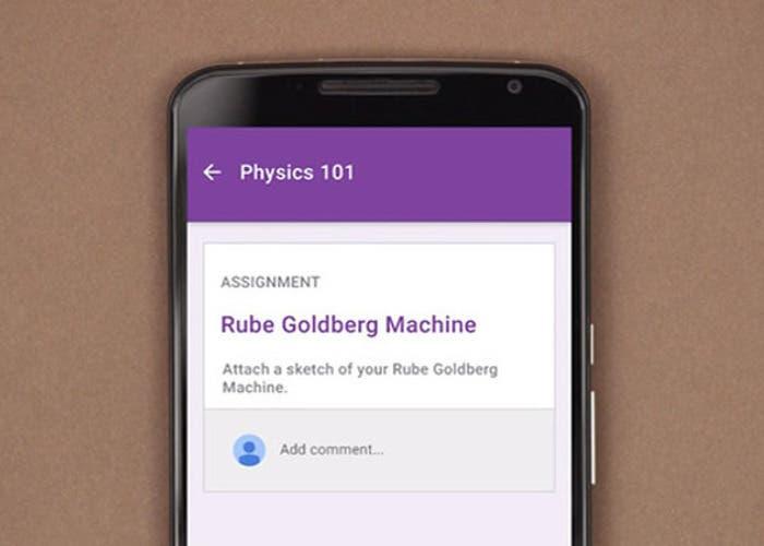 La app Google Classroom establece unión entre profesores y alumnos