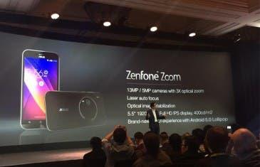 Asus anuncia su ZenFone Zoom con una cámara con zoom óptico