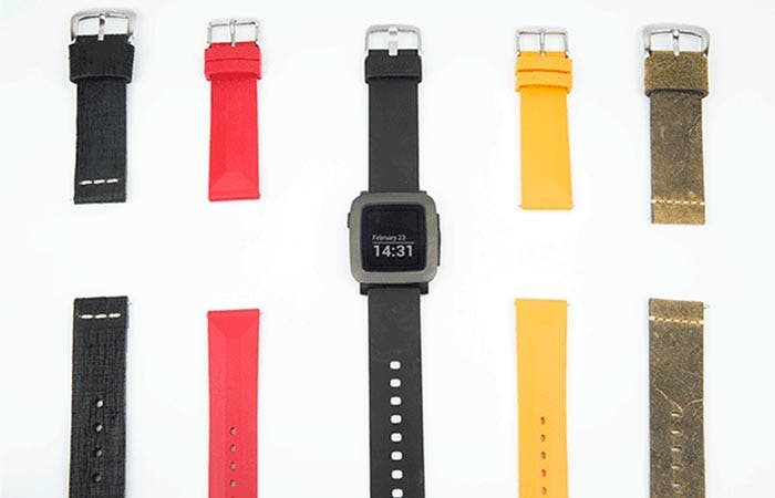 Distintas correas Pebble Time