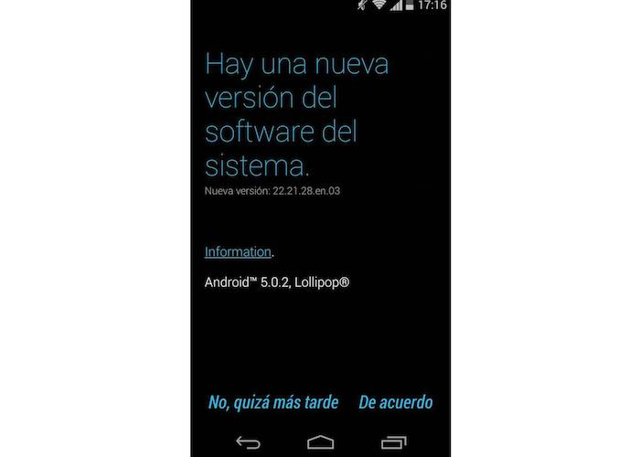 Lolipop Moto G 2014