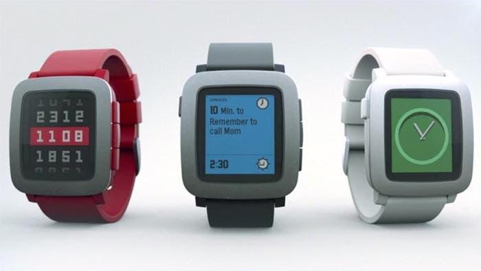 Imagen de los distintos modelos de Pebble Time