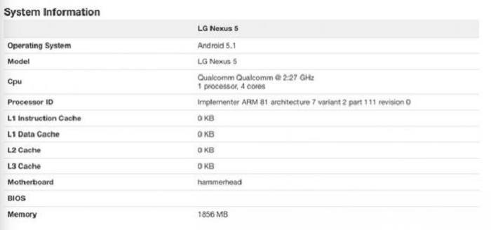 captura geekbench android 5.1 lollipop