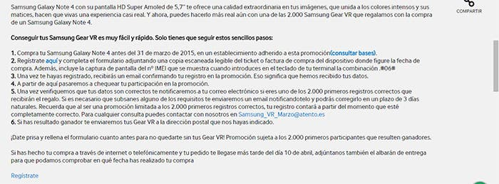 captura samsung gear vr registro