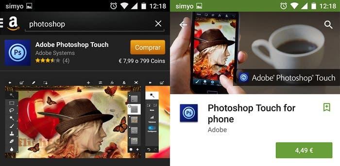 comparativa photoshop