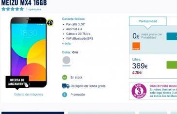 Meizu MX4 se pone a la venta en The Phone House