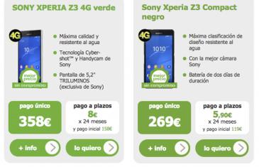 Ofertas de la semana: Sony Xperia Z3 por 358 euros