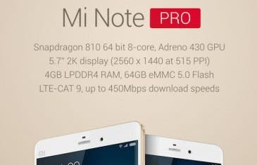 Xiaomi Mi Note Pro con Snapdragon 810 sale a la venta