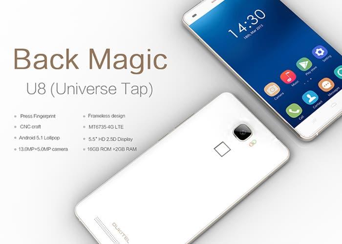OUKITEL U8, Android 5.1 y lector de huellas en un smartphone económico