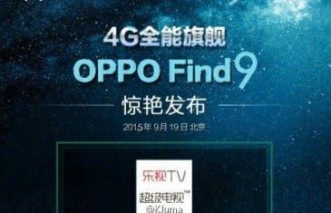 Oppo Find 9 podría llegar el 19 de septiembre
