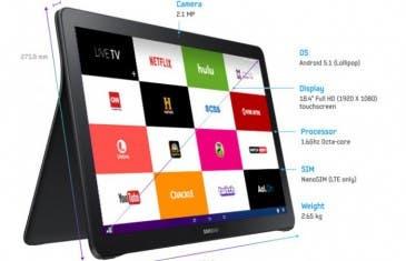 Samsung Galaxy View ya es oficial y contará con 2.65 kg de peso