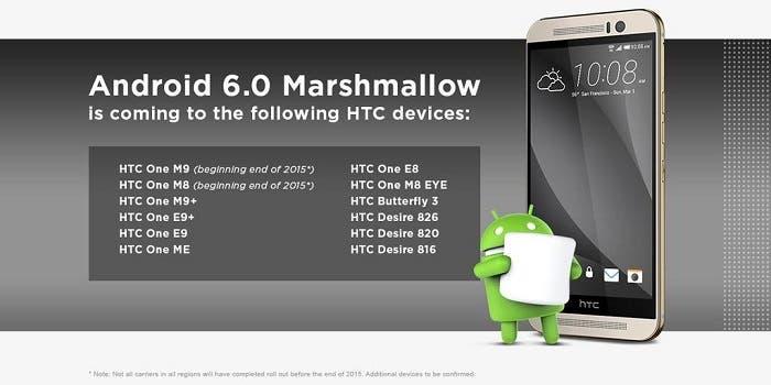 lista dispositivos htc actualizaciones