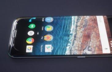 ¿Un Galaxy S7 con la pantalla curva en la parte inferior?