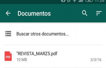 WhatsApp ahora permite el envío de PDF desde Drive y otros servicios