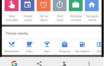 Google Now on Tap se actualiza: nuevas acciones rápidas y lugares cercanos