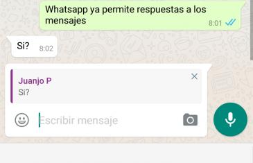 Whatsapp 2.16.116: cita mensajes y respuestas