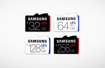 Samsung presenta las primeras tarjetas de memoria UFS para smartphones