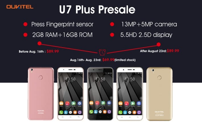 OUKITEL_U7_plus_Presale