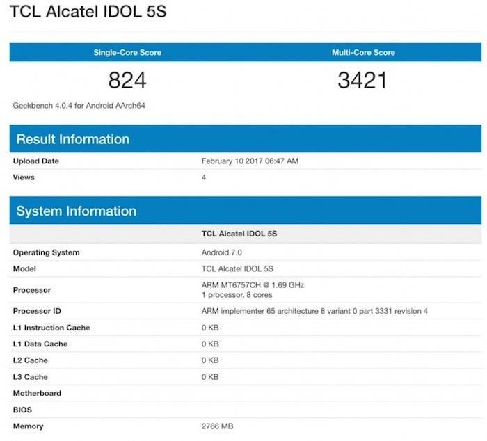 bench alcatel idol 5s