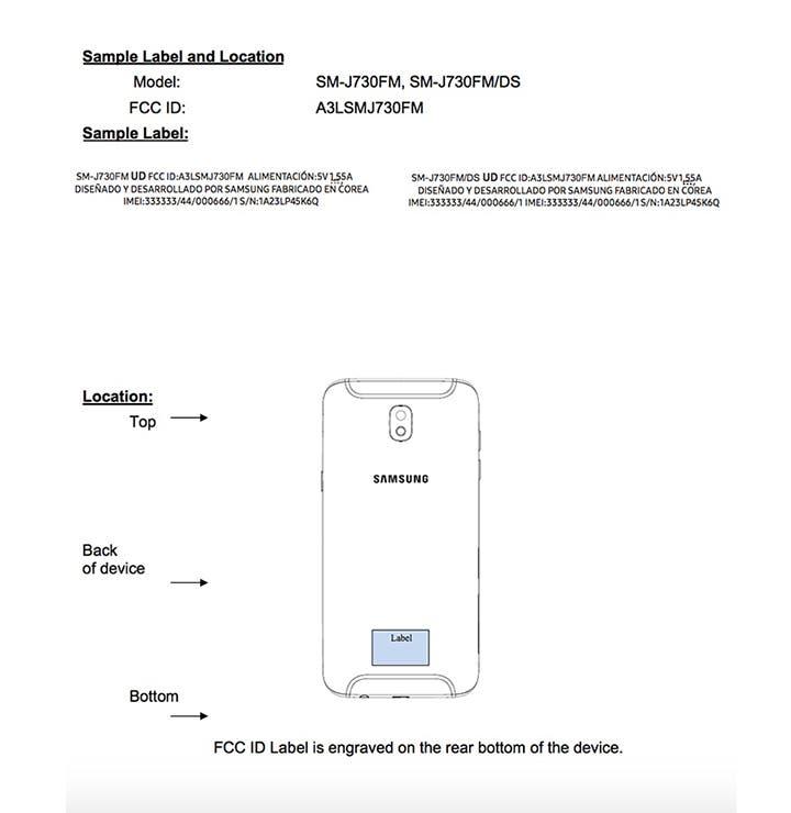 Diseño y características del Samsung™ Galaxy™ J7 2017