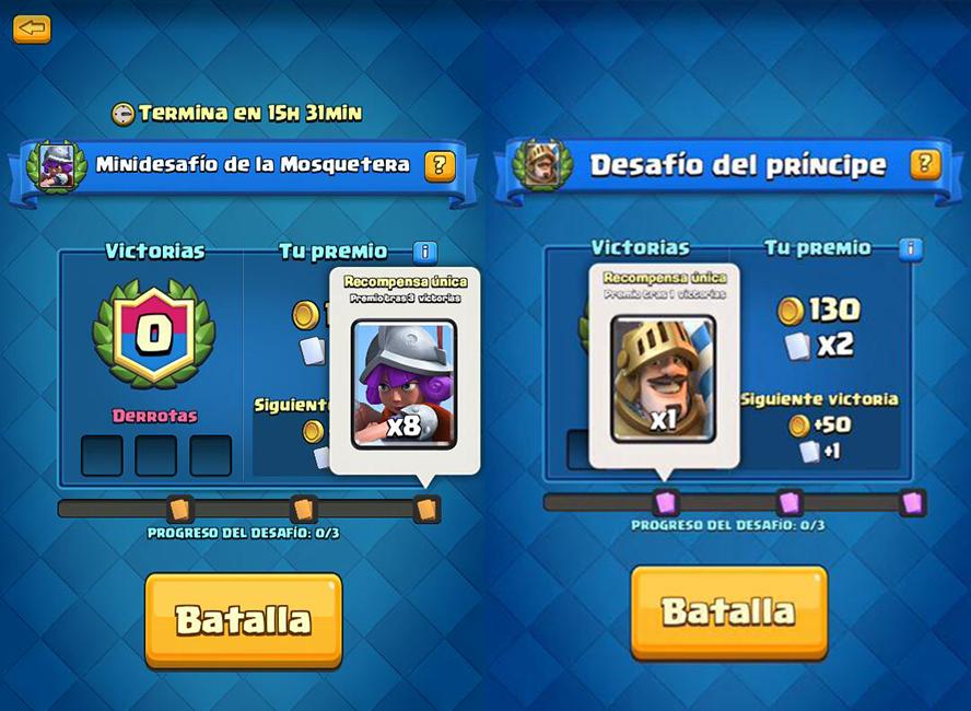 Minieventos en Clash Royale