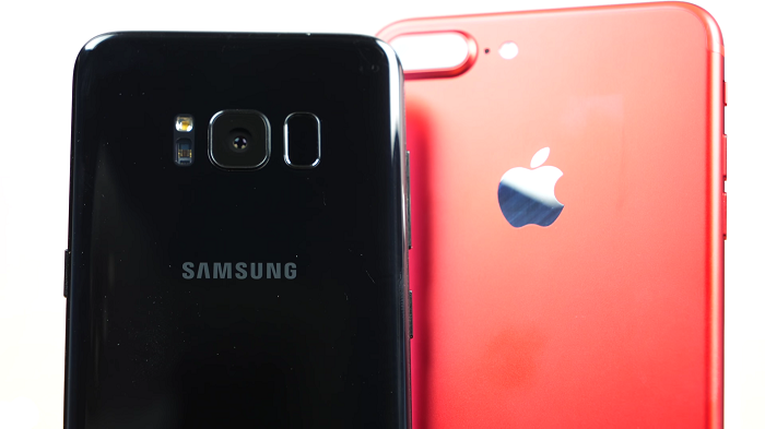 comparativa iphone 7 plus vs samsung s8