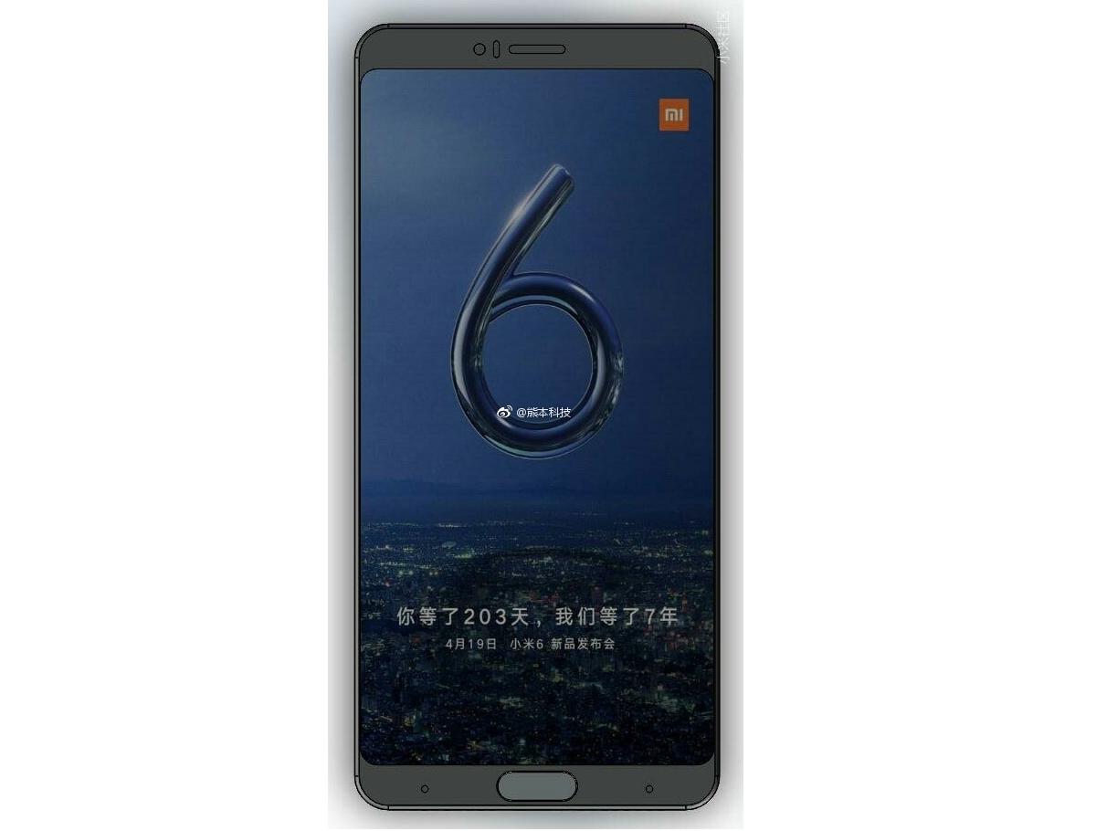 diseño del Xiaomi Mi6