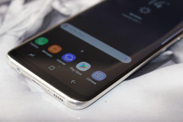 botones táctiles del Samsung Galaxy S8