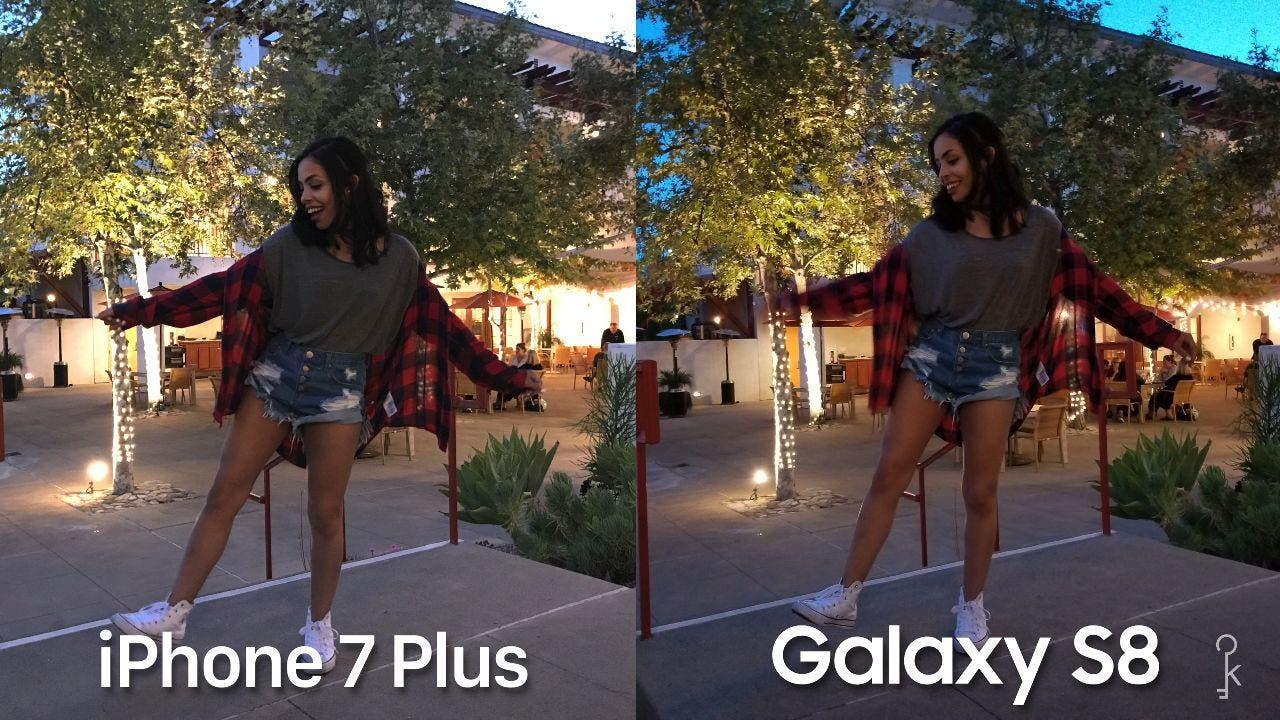 Cámara del Samsung Galaxy S8 vs iPhone 7